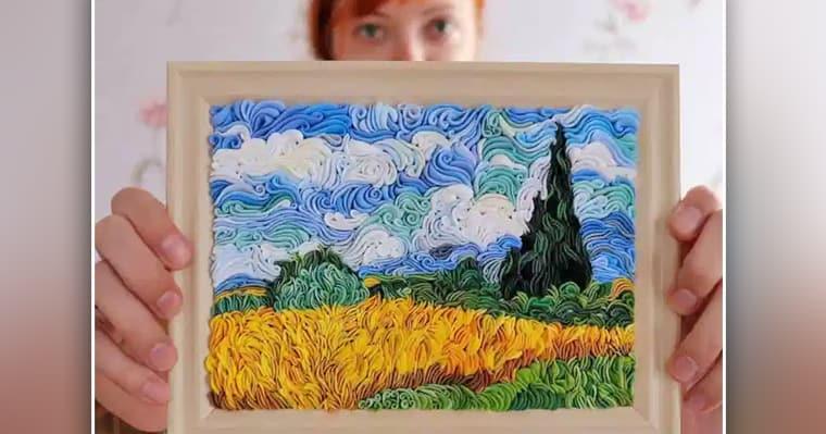 <b>Художник создает удивительные произведения из полимерной глины с изображением пейзажей, животных и фигур. [Gallery] </b>