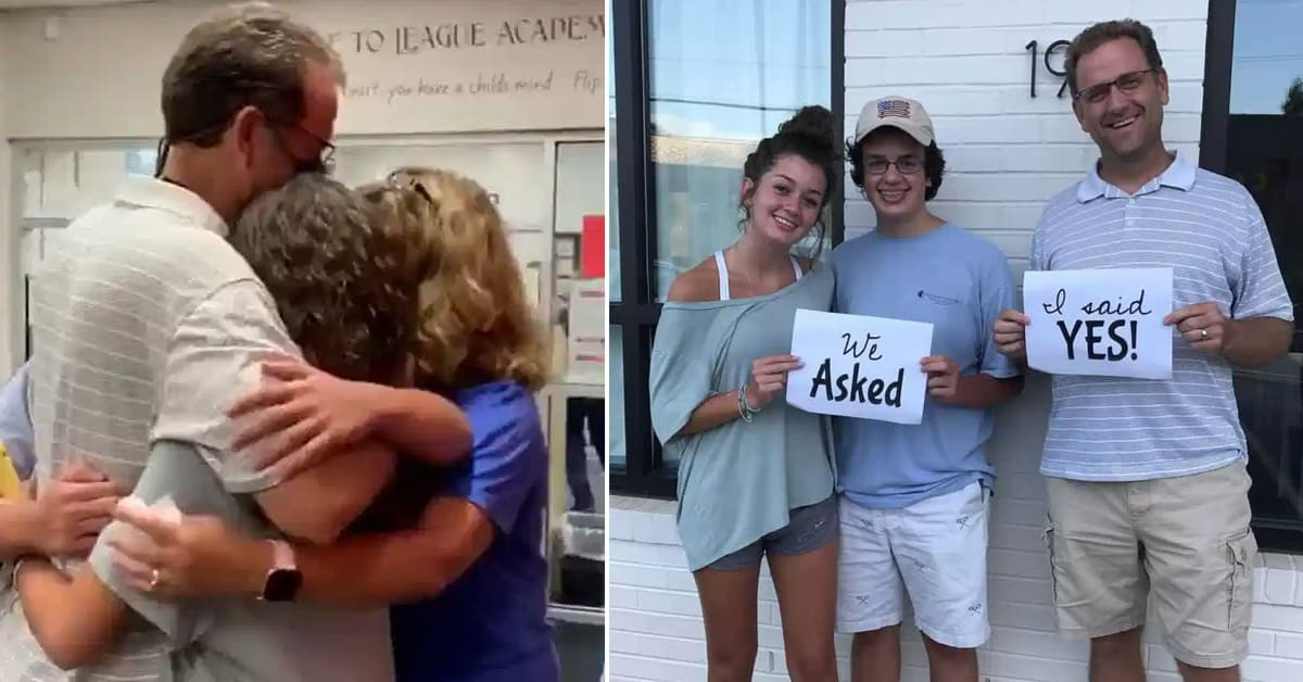 Teen siblings surprise their stepfather with sweet proposal to legally adopt them - my positive outlooks