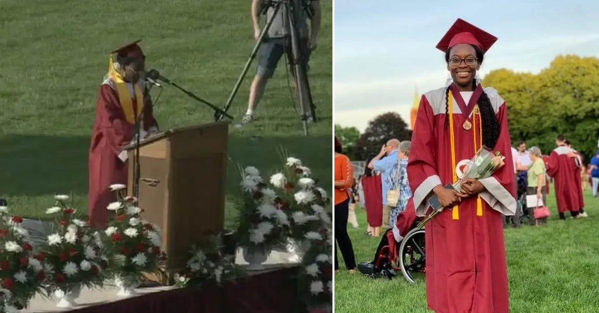 Student surprises graduation audience when she gives $40k scholarship away, here's why - my positive outlooks