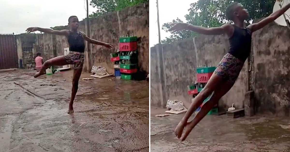 11-year-old Nigerian boy becomes ballet star after video of him dancing barefoot in the streets goes viral - my positive outlooks